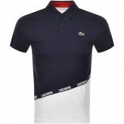 Lacoste Sport Colour Block Polo T Shirt Navy