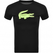 Product Image for Lacoste Sport Croc Logo T Shirt Black