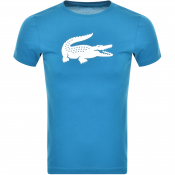 Product Image for Lacoste Sport Croc Logo T Shirt Blue