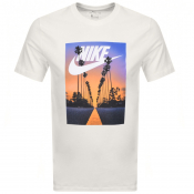 Nike Graphic Palm Tree Logo T Shirt White