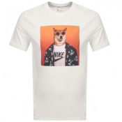 Nike Graphic Print Logo T Shirt White