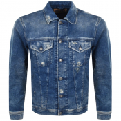 Diesel Nhill Denim Jacket Blue