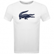 Product Image for Lacoste Sport Crew Neck Logo T Shirt White