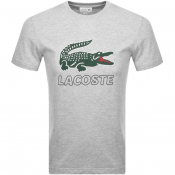 Lacoste Crew Neck Logo T Shirt Grey