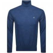 Vivienne Westwood Roll Neck Knit Jumper Blue