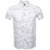 Product Image for Ted Baker Short Sleeved Damiem Shirt White