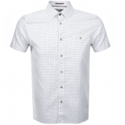 Product Image for Ted Baker Short Sleeved Mathew Shirt White