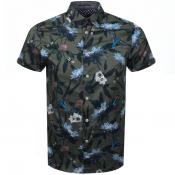 Product Image for Ted Baker Short Sleeved Johnn Shirt Khaki