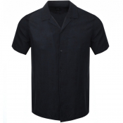 Product Image for Armani Exchange Short Sleeved Paisley Shirt Navy