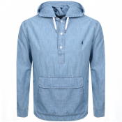 Product Image for Ralph Lauren Long Sleeved Hooded Shirt Blue