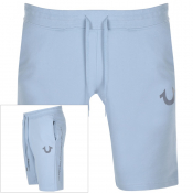 True Religion Reflective Logo Shorts Blue