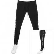 True Religion Taped Jogging Bottoms Black