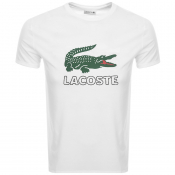 Product Image for Lacoste Crew Neck Logo T Shirt White