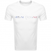 Armani Exchange Crew Neck Paris Logo T Shirt White