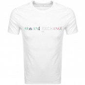 Armani Exchange Crew Neck Milan Logo T Shirt White