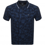 Product Image for Armani Exchange Paisley Polo T Shirt Navy