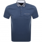Ted Baker Aslam Polo T Shirt Navy