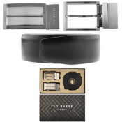Product Image for Ted Baker Double Buckle Belt Gift Set Black