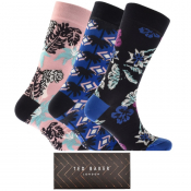 Ted Baker Palmgar 3 Pack Socks Gift Set Blue