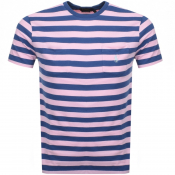 Product Image for Ralph Lauren Stripe Pocket T Shirt Pink