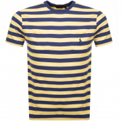 Product Image for Ralph Lauren Stripe Pocket T Shirt Yellow