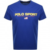 Product Image for Ralph Lauren  Crew Neck Logo T Shirt Blue