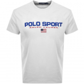 Ralph Lauren  Crew Neck Logo T Shirt White