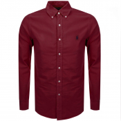 Ralph Lauren Long Sleeved Oxford Shirt Burgundy