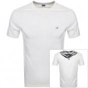 Product Image for CP Company Logo T Shirt Cream