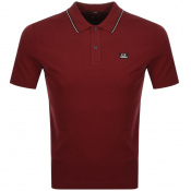 CP Company Short Sleeved Polo T Shirt Red