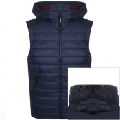 Product Image for CP Company Goggle Hood Padded Gilet Navy