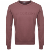 Product Image for CP Company Crew Neck Logo Sweatshirt Pink