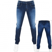 Product Image for Replay Anbass Hyperflex Jeans Blue