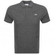 Lacoste Short Sleeved Polo T Shirt Grey