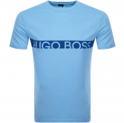BOSS HUGO BOSS Slim Fit UV Logo T Shirt Blue