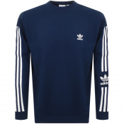 Product Image for adidas Originals Lock Up Crew Neck Sweatshirt Navy