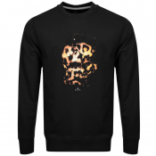 PS By Paul Smith Crew Neck Skull Sweatshirt Black