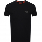 Product Image for Superdry Vintage Short Sleeved T Shirt Black