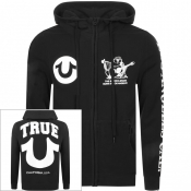True Religion Logo Full Zip Hoodie Black