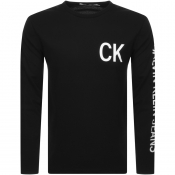 Product Image for Calvin Klein Jeans Long Sleeve Logo T Shirt Black