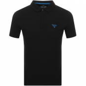 Barbour Beacon Short Sleeved Polo T Shirt Black