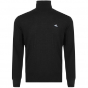 Vivienne Westwood Roll Neck Knit Jumper Black