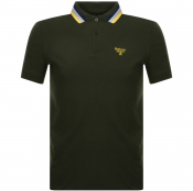 Barbour Beacon Short Sleeved Polo T Shirt Green