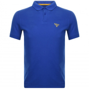 Barbour Beacon Short Sleeved Polo T Shirt Blue