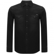 Replay Hyperflex Denim Shirt Black