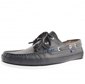 PS By Paul Smith Archer Boat Shoes Blue