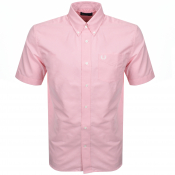 Product Image for Fred Perry Short Sleeved Oxford Shirt Pink