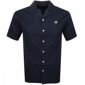 Product Image for Fred Perry Short Sleeved Revere Collar Shirt Navy
