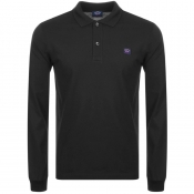 Paul And Shark Long Sleeved Polo T Shirt Black
