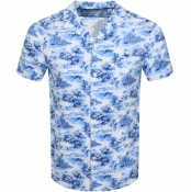Product Image for Jack Wills Elwick Palm Short Sleeved Shirt Blue